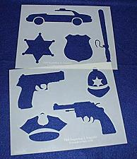 """Buy Police Department Stencils -Mylar 2 Pieces of 14 Mil 8"""" X 10""""- Painting /Crafts/"""