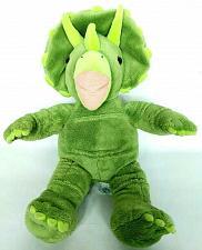 "Buy Build A Bear Green Triceratops Dinosaur Plush Stuffed Animal 18"""