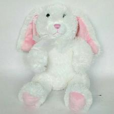 """Buy Commonwealth Easter Bunny White Rabbit Plush Stuffed Animal with Bow 2010 9.5"""""""