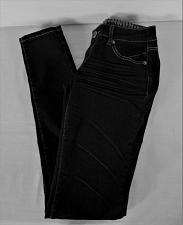 Buy PAPAYA womens Sz 3 W26 L31 black denim PLEATED front STRETCH jeans (B5)P