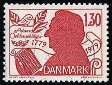 Buy Denmark #659 Adam Oehlenschlaeger; Used (4Stars) |DEN0659-01XBC