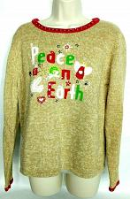 Buy Tiara International Women's Christmas Pullover Sweater Lg Peace On Earth Angel
