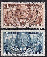 Buy GERMANY DDR [1954] MiNr 0443-44 ( OO/used )