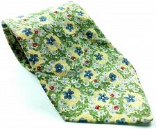 Buy Floral Flower Red Blue All Over Print 100% Cotton Novelty Tie