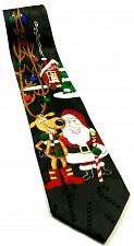 Buy Hallmark Christmas Santa Claus Reindeer North Pole Ornaments Novelty Silk Tie