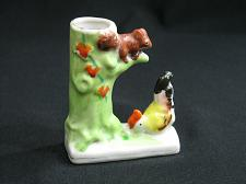 Buy Vintage Occupied Japan Bud Vase Chicken Squirrel in a Tree