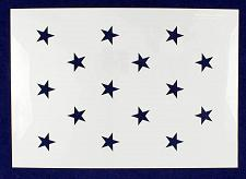 "Buy 15 Star Field ""Star Spangled Banner"" Stencil 14 Mil -US G Spec 10.5 x 14.82"" Lon"