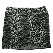 Buy Lane Bryant Womens A Line Pleated Skirt 24 Leopard Print Black Gray Side Zip