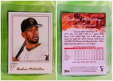 Buy MLB ANDREW MCCUTCHEN PITTSBURGH PIRATES 2017 TOPPS GALLERY BASEBALL #3 MINT