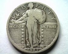 Buy 1927 STANDING LIBERTY QUARTER FINE F NICE ORIGINAL COIN BOBS COINS FAST SHIPMENT