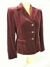 Buy KASPER womens Sz 4P L/S brown VELVET 3 button SILK blend fully LINED jacket (C5)