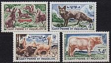 Buy SAINT PIERRE ET MIQUELON [1964] MiNr 0408-11 ( **/mnh ) Tiere