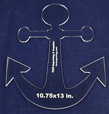 "Buy Anchor Template - 13"" x 10.75"" 1/4"" Acrylic"
