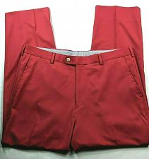 Buy Peter Millar Men's Crown Sport Golf Pants Solid Red Size 36 Stretch