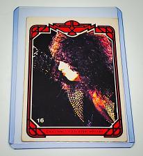 Buy VINTAGE KISS LIVE PAUL STANLEY 1978 AUCOIN ROCK MUSIC COLLECTORS CARD #16 GD/VG