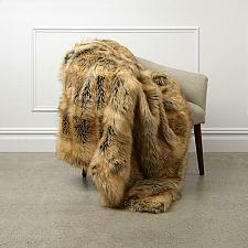 Buy Wild Mannered Faux Fur Throw Blanket Lounge Couch Sofa Bed Accent Decor