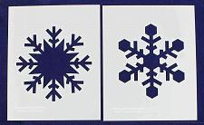 "Buy Large Snowflake B-2 Piece Stencil Set 14 Mil 8"" X 10"" Painting /Crafts/ Template"