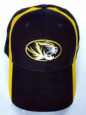 Buy University Of Missouri Men's Mizzou Tigers Hat Cap Strapback Black Gold