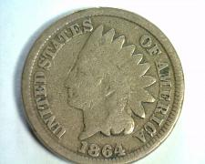 Buy 1864 COPPER NICKEL INDIAN CENT PENNY GOOD G NICE ORIGINAL COIN FROM BOBS COINS