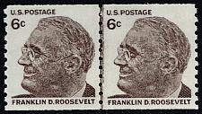Buy US #1305 Franklin D. Roosevelt Joint Line Pair; MNH (5Stars) |USA1305jlp-01
