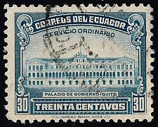Buy Ecuador #439 Government Palace; Used (3Stars) |ECU0439-02XRS