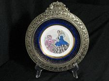 Buy Century Salem 23k Gold trim Fancy Frame Plate Victorian women Civil war Fashion