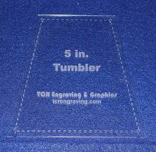 """Buy 5"""" Tumbler Quilt Template - With Seam Allowance/Holes -Clear 1/8"""" Acrylic"""