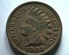 Buy 1902 INDIAN CENT PENNY ABOUT UNCIRCULATED AU NICE ORIGINAL COIN FROM BOBS COINS
