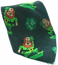 Buy St Patricks Day Shamrock Leprechaun Kiss Me Im Irish Novelty Tie