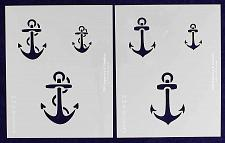 """Buy Small Anchor Stencils- 8"""" X 10"""" -14 Mil Mylar Painting /Crafts/ Templates"""