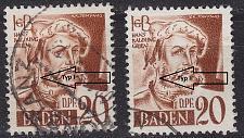 Buy GERMANY Alliiert Franz. Zone [Baden] MiNr 0021 y I,II ( O/used ) [01]