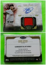 Buy MLB HENRY OWENS BOSTON RED SOX AUTOGRAPHED 2016 TOPPS TIER ONE JERSEY /149 MINT