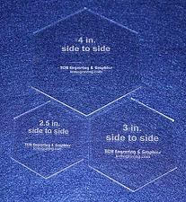 """Buy 3 Piece Set 1/8"""" Hexagon Sizes. You Get One of Each, 2 1/2"""", 3"""", 4"""""""