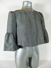 Buy THE LIMITED womens Small 3/4 Bell sleeve gray FULLY LINED CROPPED jacket (B4)P