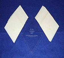 """Buy Mylar 4"""" Side Measured Diamonds 51 Piece Set - Quilting / Sewing Templates"""
