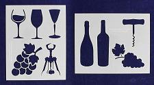 Buy Wine Stencils -Mylar 2 Pieces of 14 Mil 8 X 10 Inches