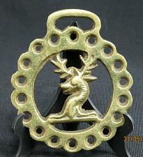 Buy Vintage Buck Deer Horse Brass Medallion Harness
