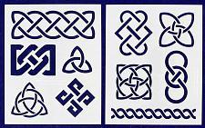 """Buy Celtic Knot- 2 Pieces-Stencil -Mylar 14 Mil 17.5"""" H X 14"""" W"""