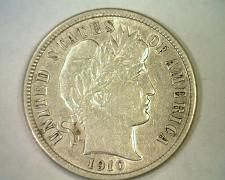 Buy 1910-D BARBER DIME ABOUT UNCIRCULATED AU NICE ORIGINAL COIN BOBS COINS FAST SHIP