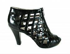 Buy Sofft Black Leather Zip Front Woven Bootie Heels Shoes Women's 8 1/2 M (SW13)