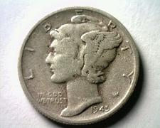 Buy 1945-S MICRO S MERCURY DIME EXTRA FINE XF EXTREMELY FINE EF NICE ORIGINAL COIN