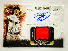 Buy MLB HENRY OWENS BOSTON RED SOX AUTOGRAPHED 2016 TOPPS TIER ONE JERSEY /149 MNT