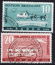 Buy GERMANY Alliiert Franz. Zone [Baden] MiNr 0054-55 ( O/used ) [01]