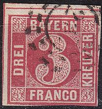 Buy GERMANY Bayern Bavaria [1862] MiNr 0009 a ( O/used ) [02]