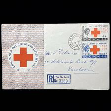 Buy Hong Kong 1963 Registered Red Cross International Centenary 2 Stamps On FDC