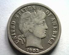 Buy 1903-O BARBER DIME FINE / VERY FINE F/VF NICE ORIGINAL COIN BOBS COINS FAST SHIP