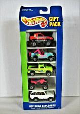 Buy HOT WHEELS Off Road Explorers 1991 5 Car Gift Pack Set NEW IN BOX