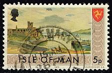 Buy Isle of Man #20 Peel - Castle and Shore; Used (0.25) (2Stars) |IOM0020-01XVA