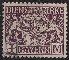 Buy GERMANY Bayern Bavaria [Dienst] MiNr 0024 v ( O/used )