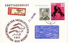 Buy GERMANY DDR [1967] MiNr 1305 ( Brief ) Pferde